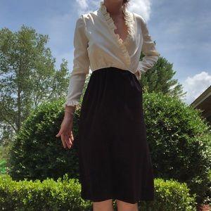 Vintage Satin & Velvet Dress